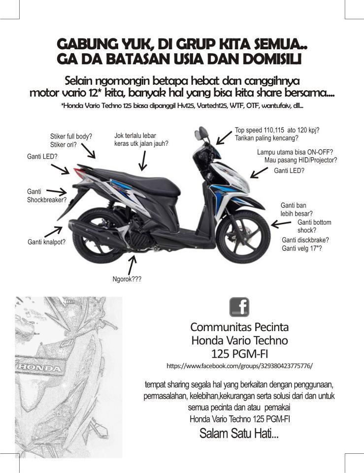 Kopdar Perdana Comunitas Pecinta Honda Vario 125 PGMFi MAZPED