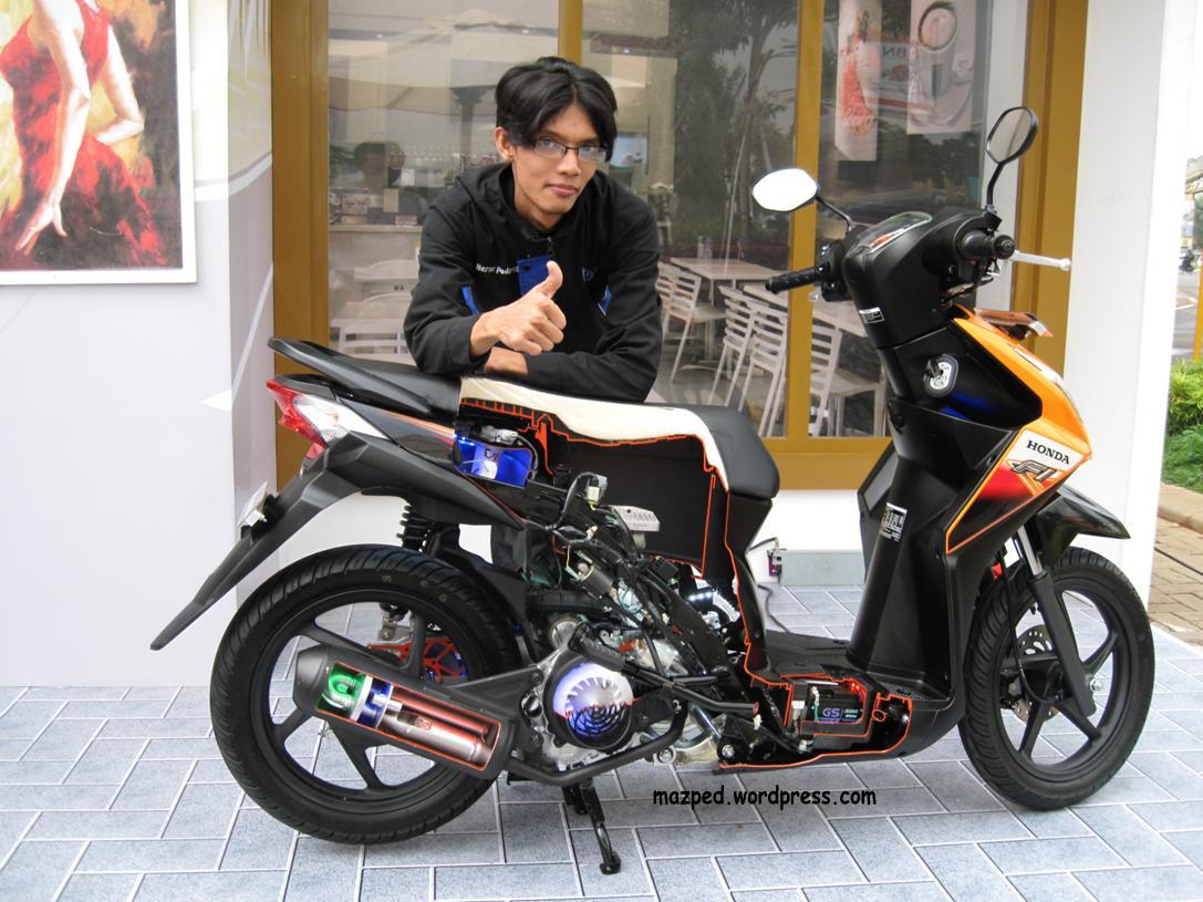 Download Kumpulan Modif Honda Beat Fi Orange Terbaru Botol