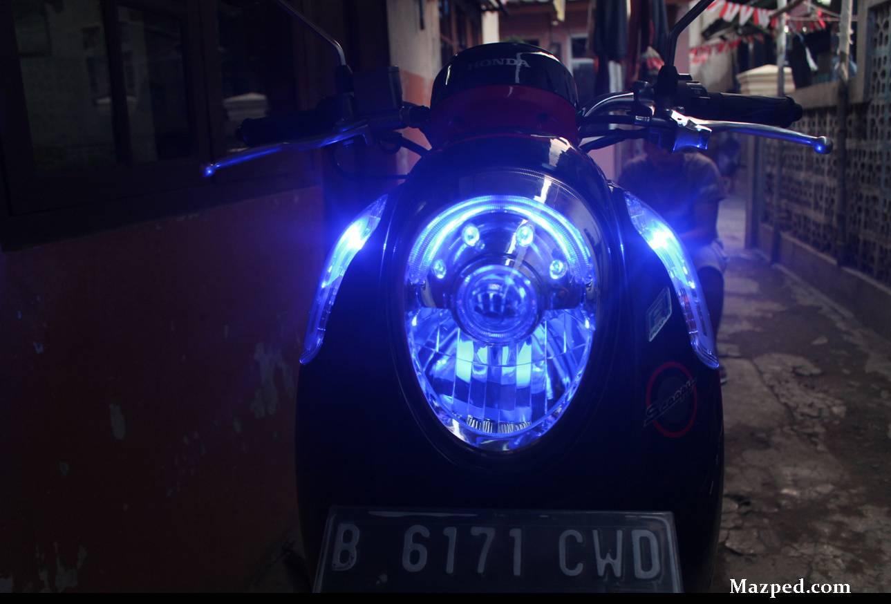 86 Modifikasi Lampu Depan Scoopy Kumpulan Modifikasi Motor