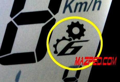 indikator gear dan angka 6 NVL