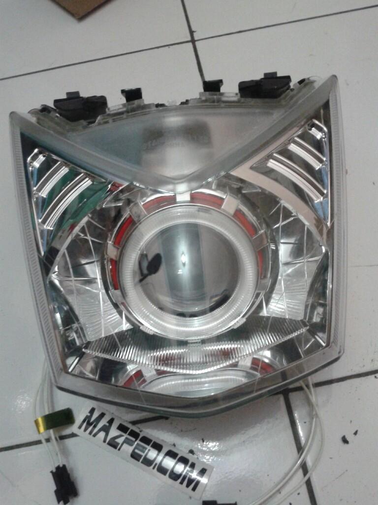 92 Modifikasi Lampu Depan Motor Beat Fi Terbaru Gendoel Motoer