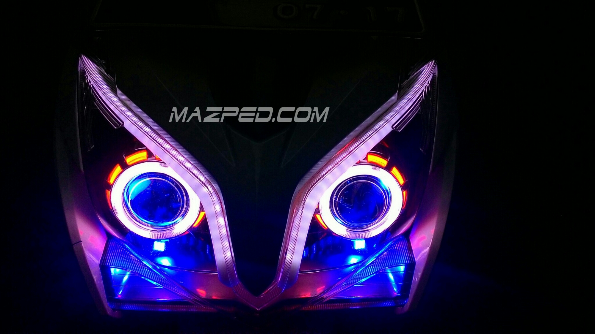 100 Modifikasi Lampu Motor Vario Techno Terbaik Kumbara Modif