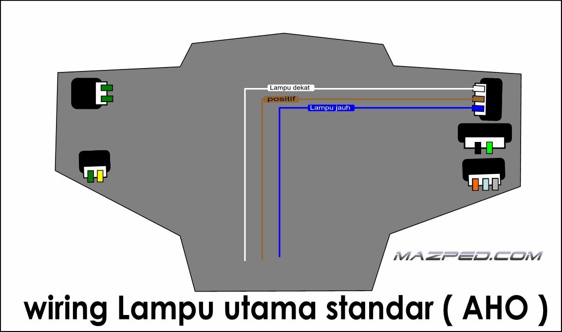 Beberapa cara bikin switch passing mazped pict di atas adalah wiring standar motor aho minus saklar lampu utama kalo mau pasang saklar lampu utama berikut saklar lampu senjanya silahkan simak asfbconference2016 Gallery